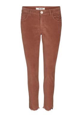 Mos Mosh - Byxor - Sumner Velvet Zip Pant - Auburn