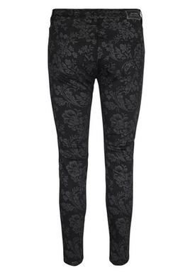 Mos Mosh - Byxor - Victoria Glam Flower Pant - Black