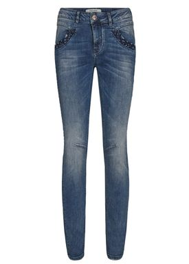 Mos Mosh - Jeans - Naomi Embroidery Jeans - Blue Denim