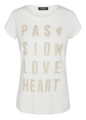 Mos Mosh - T-shirt - Crave Rivet Tee - White