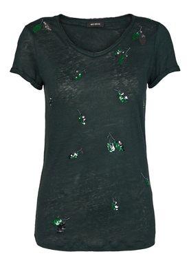 Mos Mosh - T-shirt - Leaves Tee AW18 - Jade Green