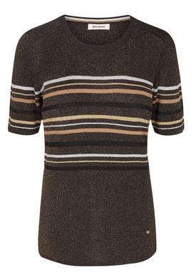 Mos Mosh - T-shirt - Jewel Knit SS - Black w/Lurex