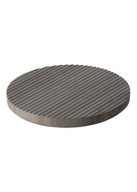 Muuto - Bordskåner - Groove Trivet - Large - Grå Marmor