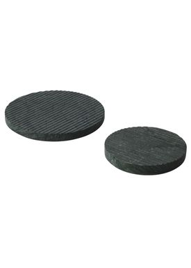 Muuto - Bordskåner - Groove Trivet - Small - Grøn Marmor