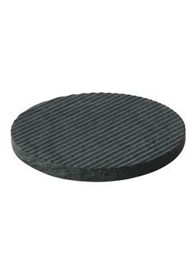 Muuto - Bordskåner - Groove Trivet - Large - Grøn Marmor