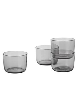 Muuto - Glass - Corky Glasses - Set of 4 - Grey - Low