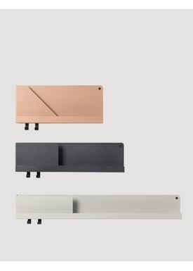 Muuto - Shelf - Folded Shelves - Light Terracotta Medium