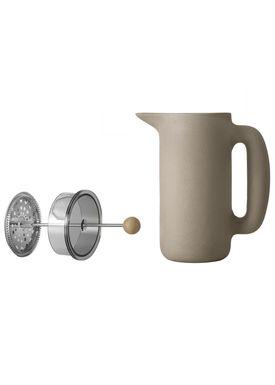 Muuto - Pot - Push Coffee Maker - Stone Grey