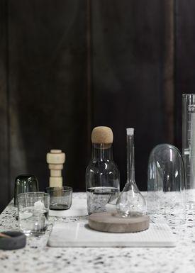 Muuto - Carafe - Corky Carafe - Grey Glass/Cork