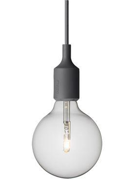 Muuto - Lampe - E27 - Mørk Grå