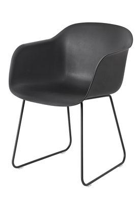 Muuto - Chair - Fiber Chair - Sled Base - Black/Black