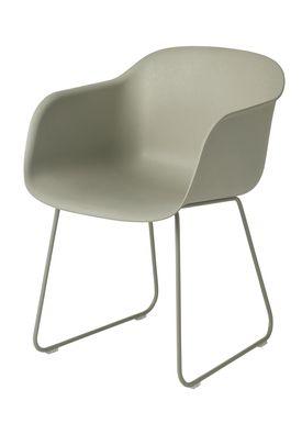 Muuto - Chair - Fiber Chair - Sled Base - Dusty Green/Dusty Green