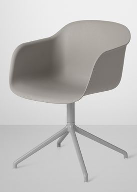 Muuto - Chair - Fiber Chair - Swivel Base - Grey/Grey
