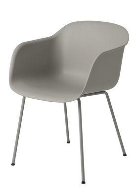 Muuto - Chair - Fiber Chair - Tube Base - Grey/Grey Legs