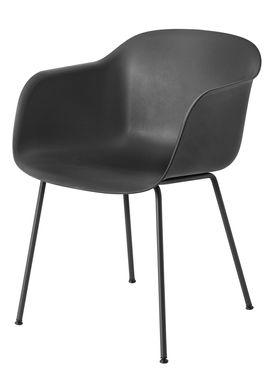 Muuto - Chair - Fiber Chair - Tube Base - Black/Black Legs