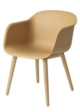 Muuto - Chair - Fiber Chair - Wood Base - Nature/Oak Base