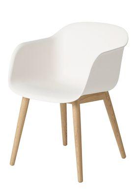 Muuto - Chair - Fiber Chair - Wood Base - White/Oak Base