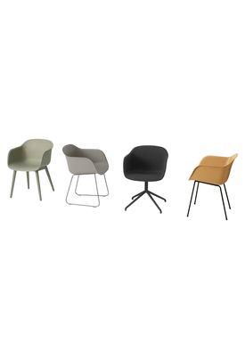 Muuto - Chair - Fiber Chair - Wood Base - Grey/Grey Base