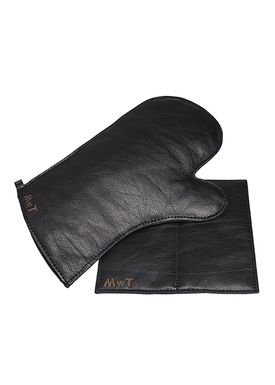 MWT - Potholder - Black Leather Glove & Sleeve Box - Black