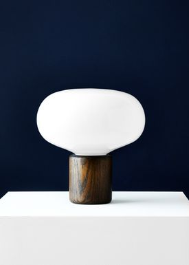 New Works - Tabel lamp - Karl Johan - Smoked Oak w. White Opal Glass