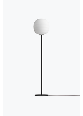 New Works - Floor lamp - Lantern Floor Lamp of Anderssen and Voll - Mat White / Black Frame Medium