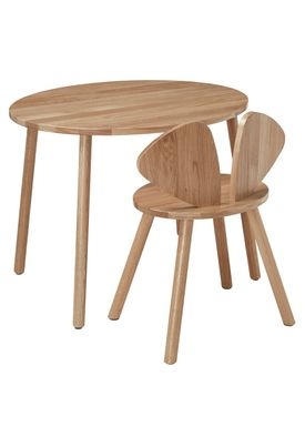 NOFRED - Table - Mouse Table School - lacquered Oak
