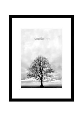 Nordic Line - Frames - Slim - Solid - Wood - Matt Black / A3