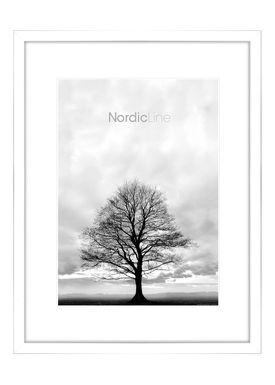 Nordic Line - Frames - Slim - Solid - Wood - Matt White / 50 x 70