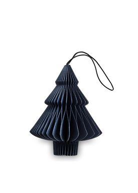 Nordstjerne - Christmas Ornaments - Christmas Paper - Dark Blue - Tree