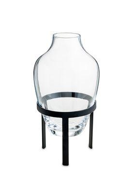 Nordstjerne - Vase - Glass Vase w. Stand - Small - Black stand