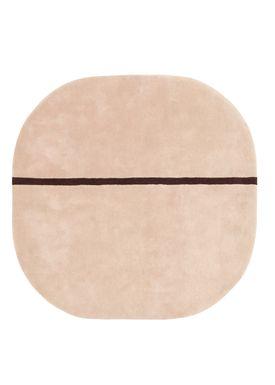 Normann Copenhagen - Rug - Oona Carpet - Rose / 140x140