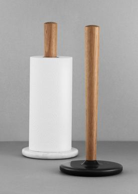 Normann Copenhagen - Paper Towel Holder - Craft Paper Towel holder - Black marble / Oak