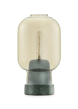 Normann Copenhagen - Lamp - Amp Table Lamp - Golden/Green marble