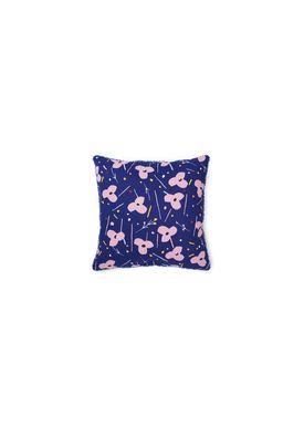 Normann Copenhagen - Cushion - Posh Pude - La Grand Fleur Ink Blue