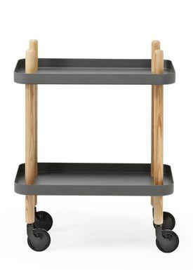 Normann Copenhagen - Trolley Table - Block Table - Dark Grey