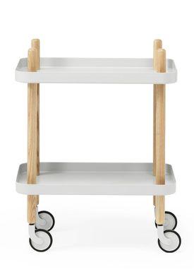Normann Copenhagen - Trolley Table - Block Table - Light Grey
