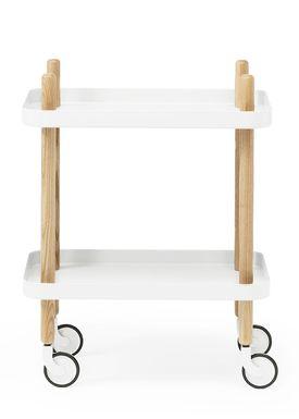 Normann Copenhagen - Trolley Table - Block Table - White