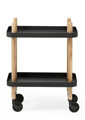 Normann Copenhagen - Trolley Table - Block Table - Black