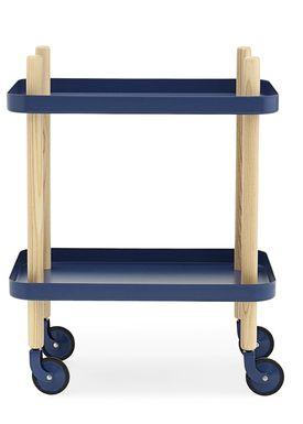 Normann Copenhagen - Trolley Table - Block Table - Dark Blue