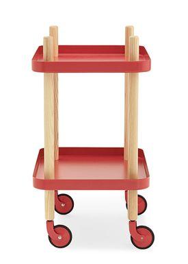 Normann Copenhagen - Trolley Table - Block Table - Red