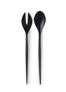 Normann Copenhagen - Salad Servers - Krenit Salad Set - Black