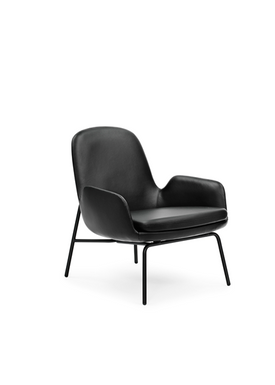 Normann Copenhagen - Chair - Era Lounge Chair chrome - Sort Tango Læder