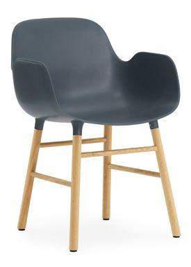 Normann Copenhagen - Chair - Form Chair - Blue/Oak