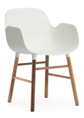 Normann Copenhagen - Chair - Form Chair - White/Walnut