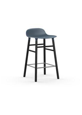 Normann Copenhagen - Stol - Form Barstool - 65 cm - Blå/Sort Eg