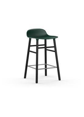 Normann Copenhagen - Stol - Form Barstool - 65 cm - Grøn/Sort Eg