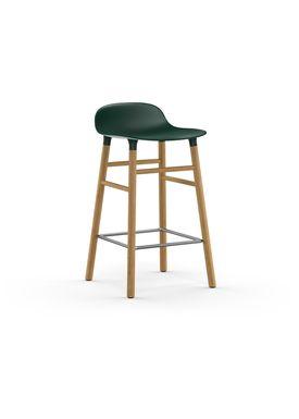 Normann Copenhagen - Stol - Form Barstool - 65 cm - Grøn/Eg