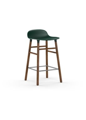 Normann Copenhagen - Stol - Form Barstool - 65 cm - Grøn/Valnød