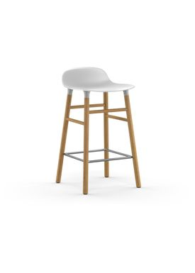Normann Copenhagen - Stol - Form Barstool - 65 cm - Hvid/Eg