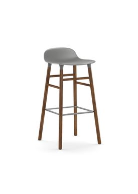 Normann Copenhagen - Chair - Form Barstool - 75 cm - Grey/Walnut